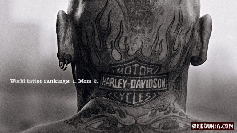 Harley Davidson Neck Tattoo