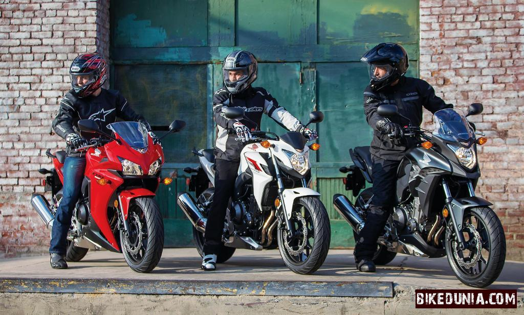 Honda  CBR500R, CB500F and CB500X