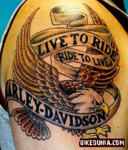 Live To Ride Tattoo