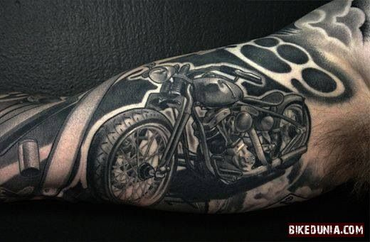 Motorcycle Tattoo Arm