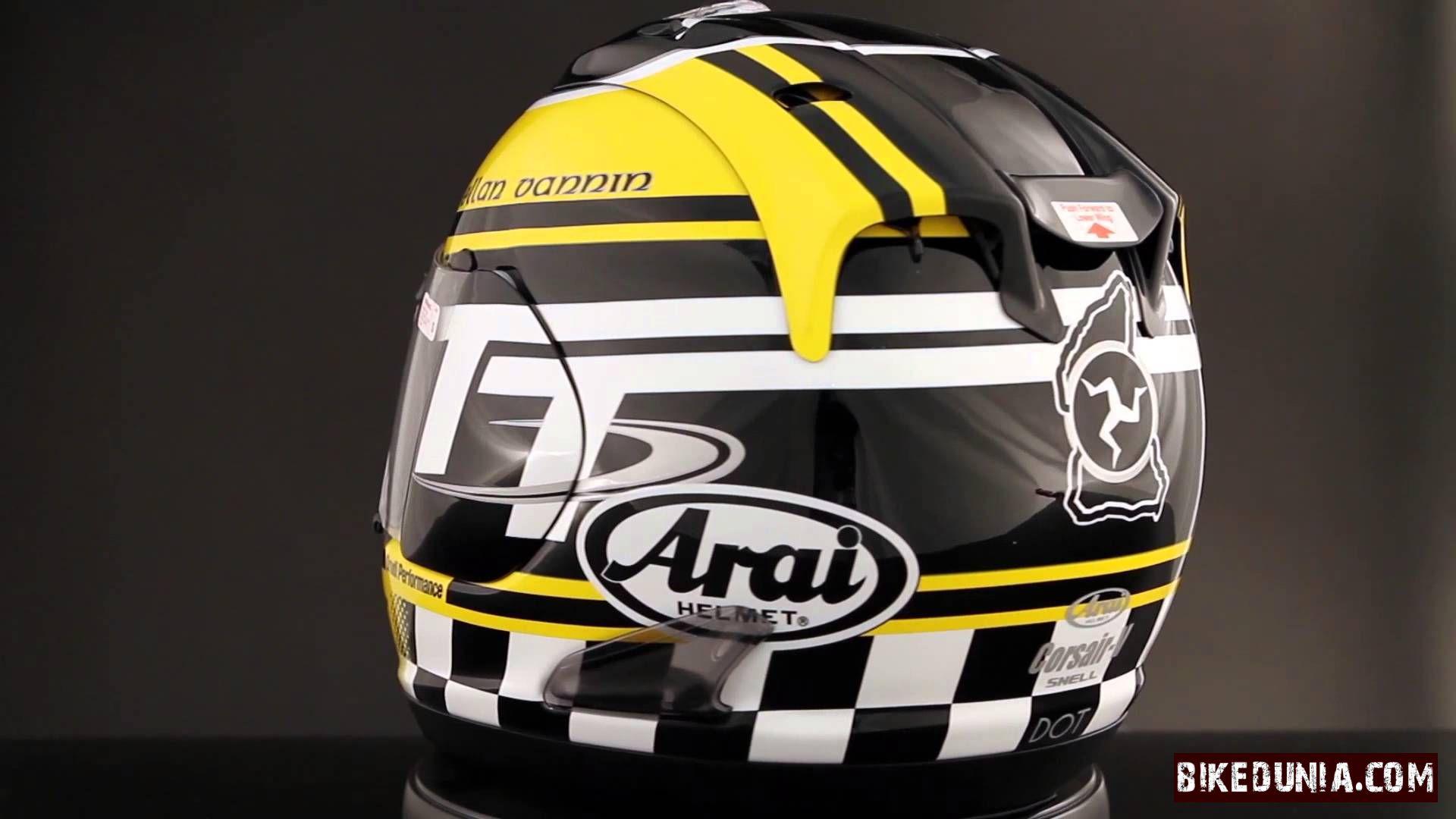 Isle of Man TT Mann3 Pure Road Racing Motorcycle Helmet