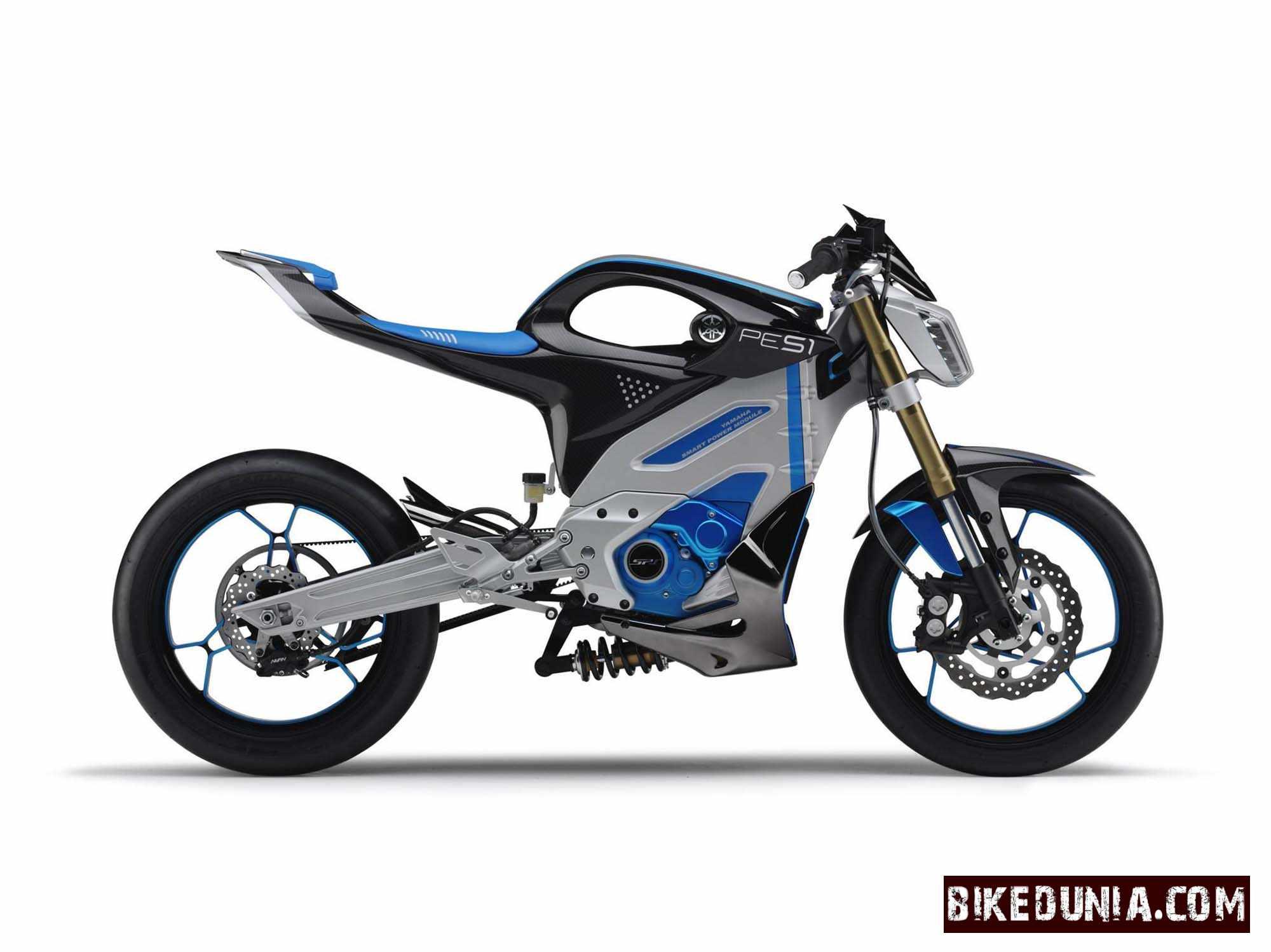 Yamaha compact electric superbike pes1 unveiled bikedunia for Electric yamaha motorcycle